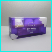 Hot sale purple UV printed compressed type gold collagen crystal facial mask bottles cosmetic plastic packaging boxes