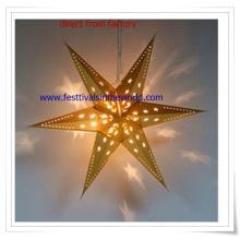 Lanternes de papier LED suspendus en gros pour la décoration de Noël ou cadeau