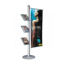 Publicidade Retail Fixture Floor Metal Base Titular de acrílico Trade Show Outdoor Banner Display