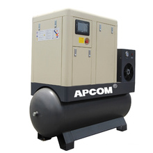 NEW 2020 Low Noise APCOM Aircompressors Integrated Combined 5hp Air Dryers Screw Compressors 4kw air compressor air compressor