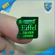 Etiqueta de holograma de segurança 3D de alta resolução / etiqueta de segurança de holograma de logotipo / autêntica etiqueta de holograma
