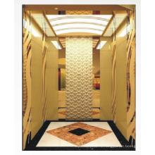 1350 кг MRL Home Lift с золотой зеркальной отделкой