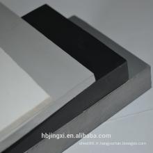 Feuille / panneau en plastique rigide gris de PVC
