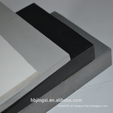 Folha / placa plástica rígida cinzenta do PVC