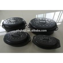Emaille Oval Puten Röster Topf & Huhn Emaille Röster & Huhn Backform