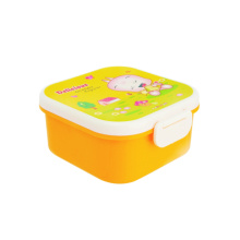 Plastic Lunch Box Flower Printed Square Shape