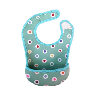 Waterproof Neoprene Baby Bibs with Pocket