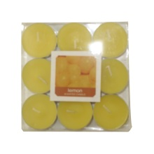 Paraffin wax white tealight candle
