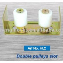 Support en gros de poulie en nylon / plastique d'usine