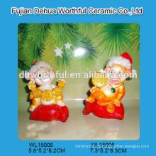 Estatuilla hecha a mano del mono del polyresin para la decoración de la Navidad