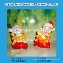 Handmade polyresin monkey figurine for christmas decoration
