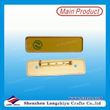 Leere magnetische Namensschild Metall Namensschild mit Logo drucken