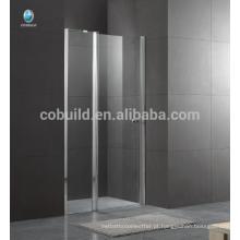 K-536 Foshan mais recente design chuveiro quarto dobradiça porta com 6 mm 8 milímetros de vidro transparente de design simples chuveiro de vidro