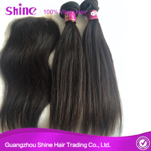 Brazilian Remy Hair Weaves With Lace Closures