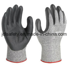 Cut Protective Work Glove with Black Foam Nitrile Coated (NDF8032)