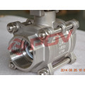 Robinet à tournant sphérique électrique en acier inoxydable 3pc