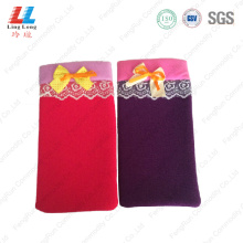 Abosorbent colorful durable bath gloves