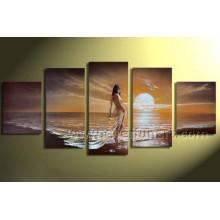 Modern Wall Art Nude Women Oil Painting on Canvas (FI-024)