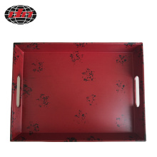 Rectangular Antique Red Plastic Tray