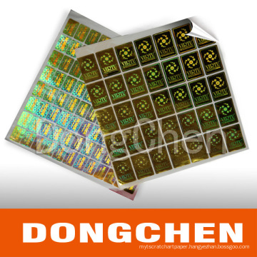 Custom Printed Packaging Label Anti-Counterfeit Vinyl Hologram Sticker