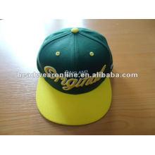 Personalizado design sanpback caps e chapéus com bordados 3D