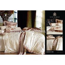 European Style Bed Linen Jacquard Bedding Set for Home Use