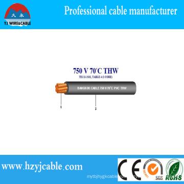 Спиральный скрученный проволочный кабель 75c Сухой, 75cwet 16AWG Thwn Термопластический кабель ПВХ, Китайский кабель производителя