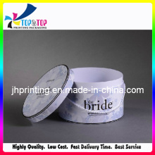 Convenient Use Fancy Paper Round Tissue Box