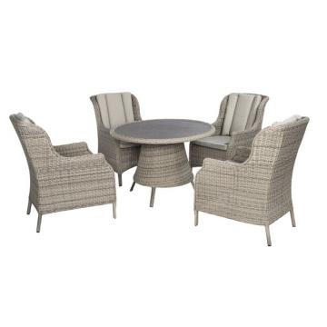 Ротанг открытый патио сад плетеное кресло обеденный набор