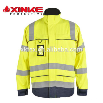 Oi-Vis retardante de fogo e tecido anti-estático para jaqueta