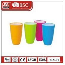 plastic bi-color water cup 0.65L