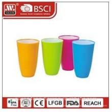 copo plástico água bi-color 0,65 L