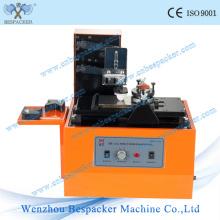 Máquina de impressora de data de tinta de almofada de placa elétrica