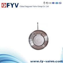 Válvula de retenção de balanço de disco único Wafer