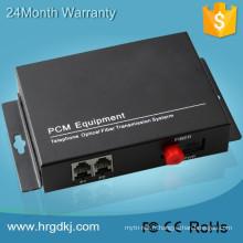 Fabriqué en Chine fxs / fxo à fibre optique convertisseur pcm mux 1 canal multiplexeur téléphonique