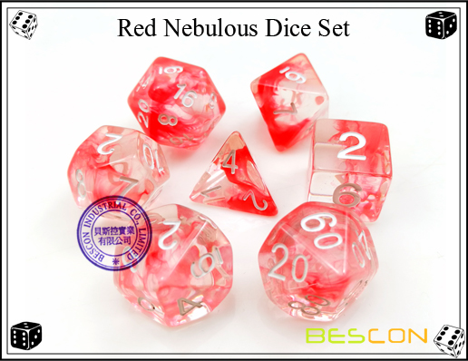 Red Nebulous Dice Set