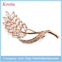 2016 china supplier jewelry olive branch brooches beautiful olive branch rhinestone Brooch
