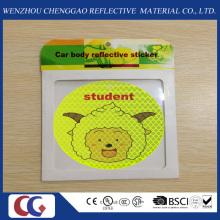 Etiqueta engomada reflexiva autoadhesiva de la iluminación linda de la sonrisa para la seguridad al aire libre de los niños
