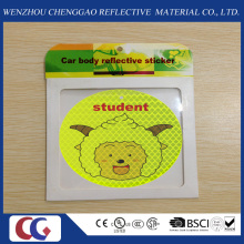 Cute Smile Lighting Self-Adhesive Reflective Sticker for Kids Outdoor Safety
