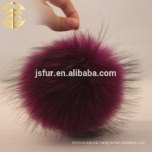 2017 Wholesale colorful pompom accessary ball raccoon fur pom poms