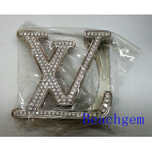 LV Sterling Silver Belt Buckle for Man