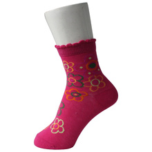 Increspato Cuff Girl Pink Socks