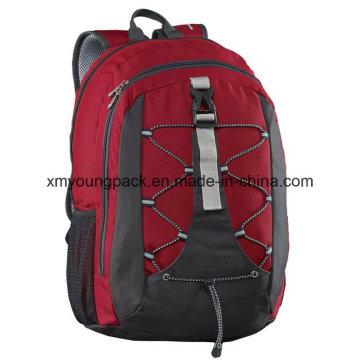 Moda rojo 30 litros versátil mochila bolsa de viaje