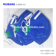 Tous les types de masque facial de charbon actif pour l'anti Pm2.5 et le type bleu toxique de gaz sans valve