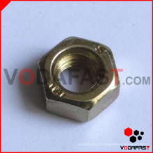 DIN 555 Hex Nuts Yellow Zinc Plated.