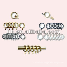 plastic gold color shower curtain rings and rod