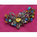Broche colorido de la joyería de la aleación del cinc del Rhinestone de la flor grande