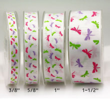 Double Faced Grosgrain Printed Ribbon Wholesale