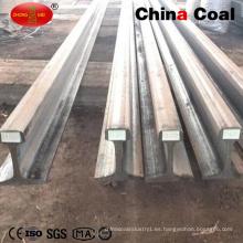 Carril de acero ferroviario de acero pesado U71mn Rail para ferrocarril