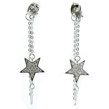 Bijoux étoiles à la mode pour femme 925 boucles d'oreille en argent (E6505)